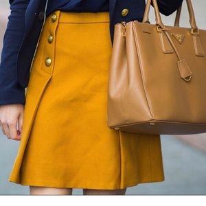 Jcrew mustard yellow skirt